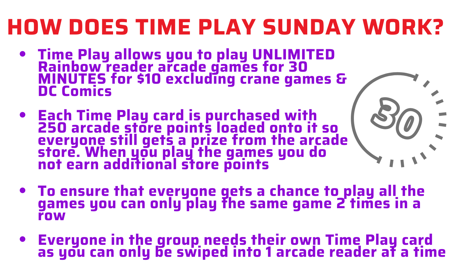 How does time play sunday work